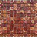 MS International 1 in. x 1 in. Red Polished Onyx Mesh-Mounted Mosaic Tile
