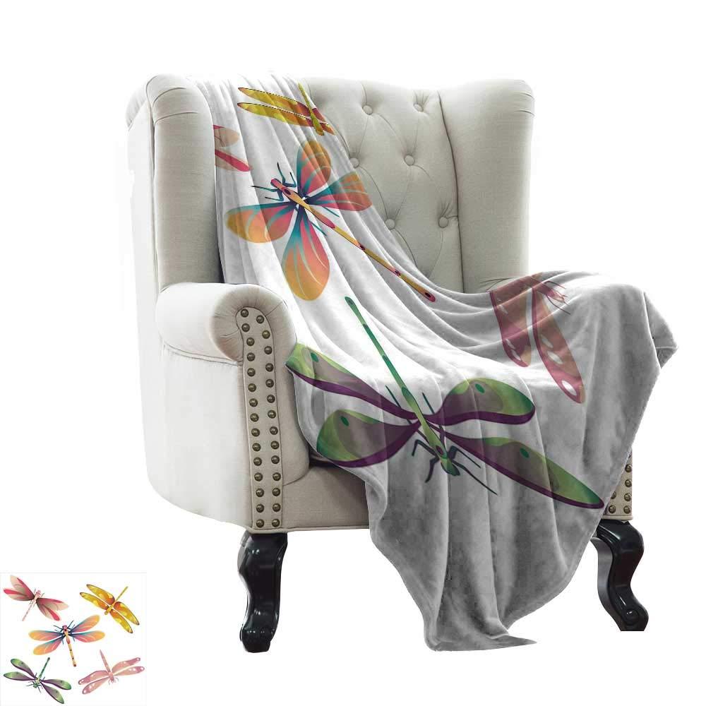 Amazon com: BelleAckerman Summer Blanket Dragonfly,Five Spiritual