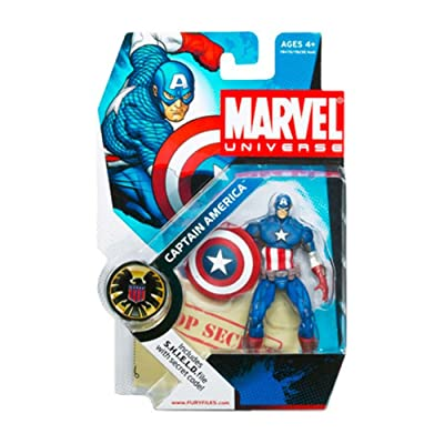 Hasbro Marvel Universe Captain America Action Figure 012: Toys & Games