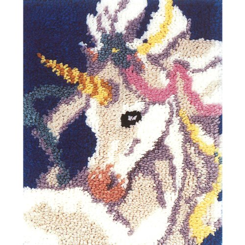 M.C.G. Textiles Sweet Unicorn Latch Hook Rug Kit