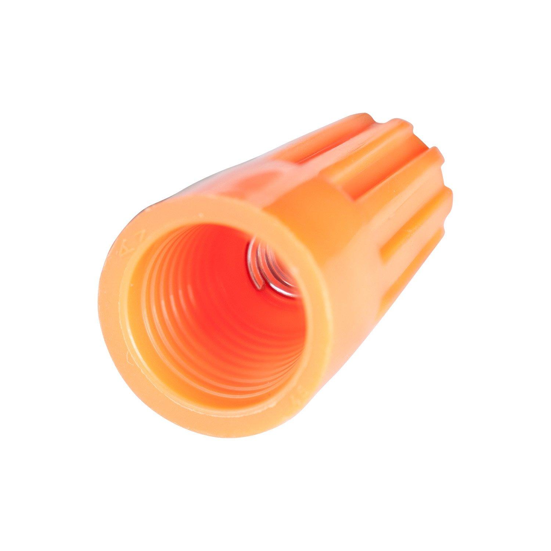 Electrical Wire Nut 100 pk Gardner Bender 10-003 WireGard Screw-On Wire Connectors 22-14 AWG Orange