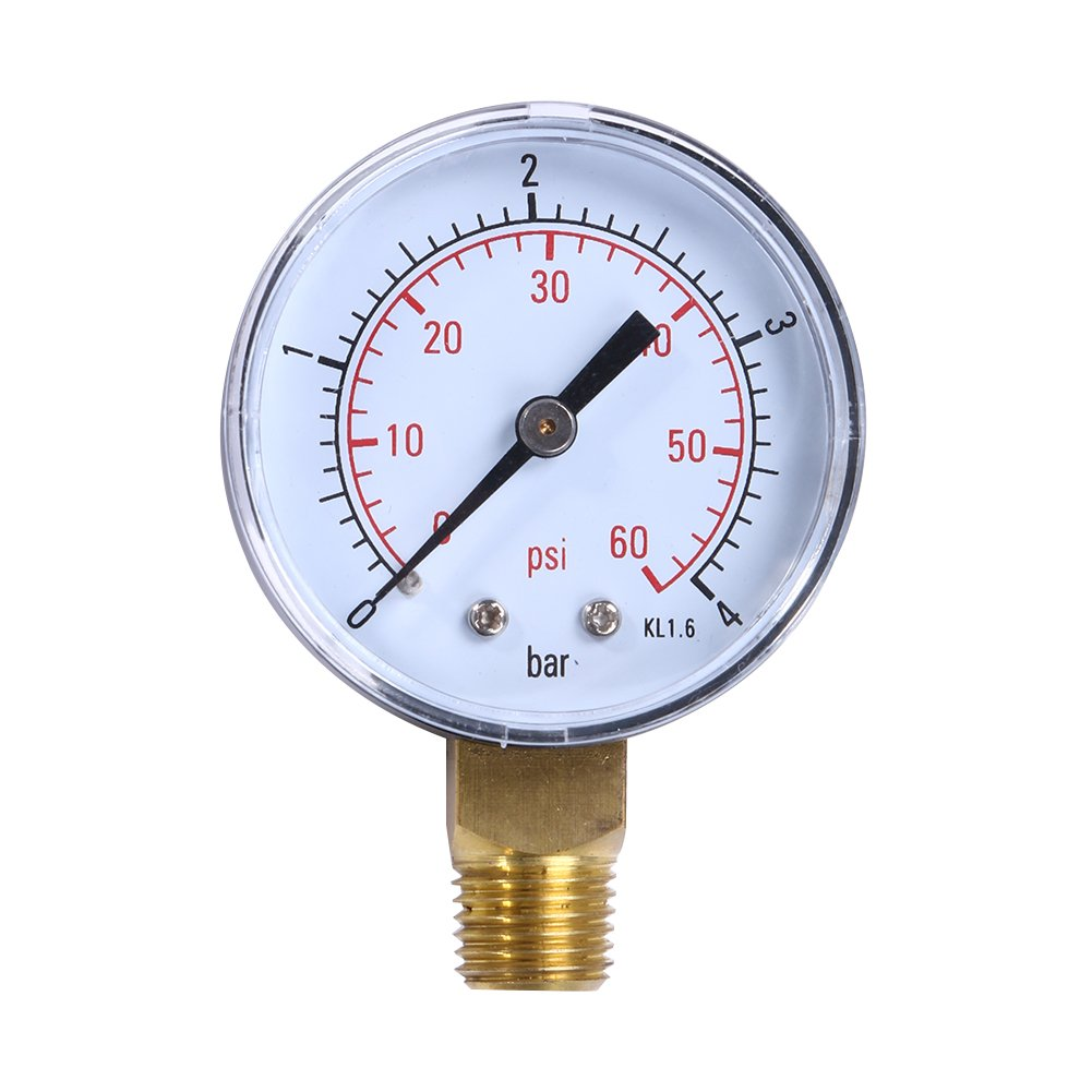South-Dragon - Pool Spa Filter Vacuum Gauge Water Pressure Gauge Vacuum Dry Utility Pressure Gauge 60PSI Side Mount 1/4'' Inch Pipe Thread Meter by South-Dragon