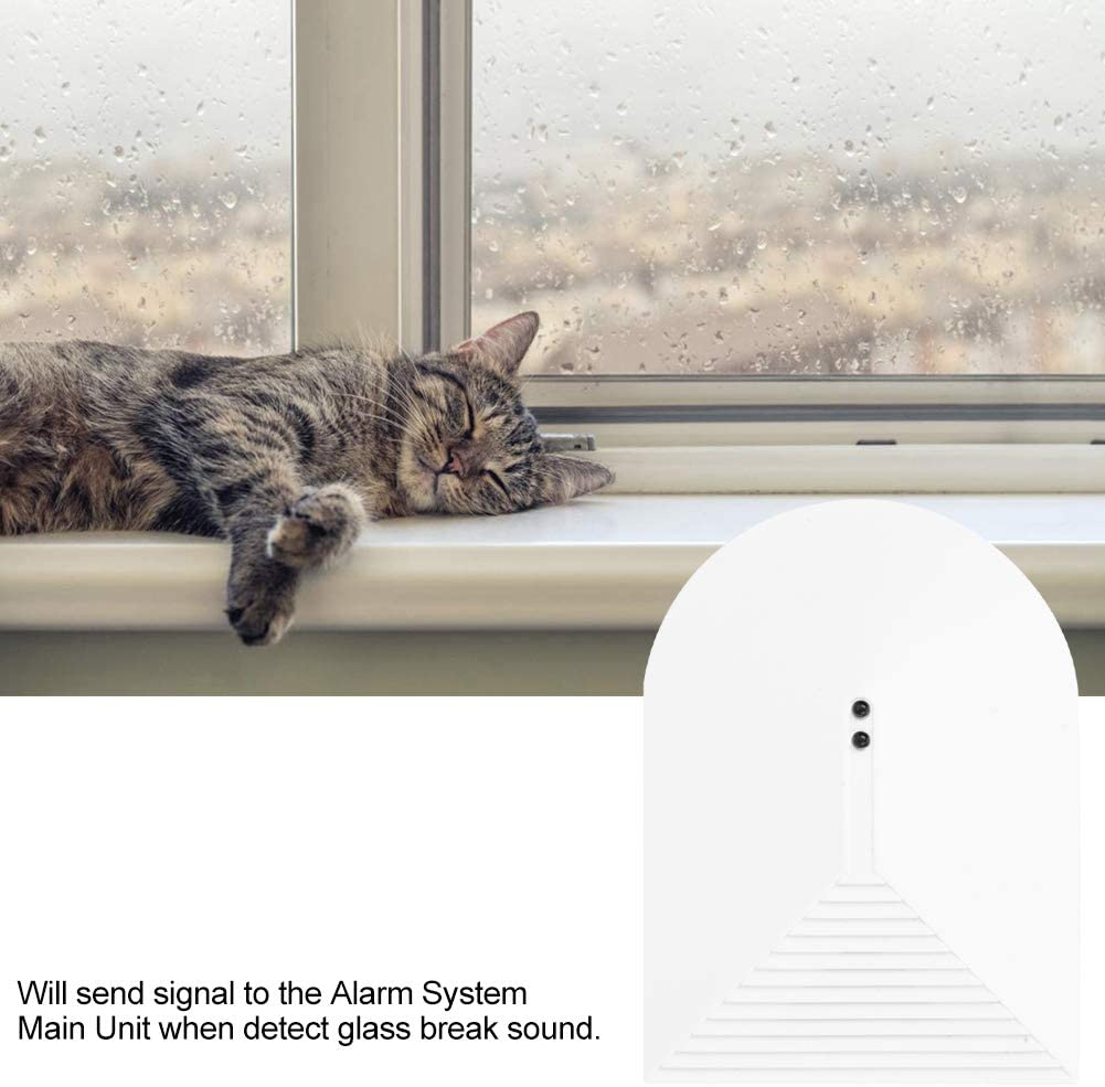 Wireless Door Window Alarm ● Vibration Glass Break Breakage Sensor Detector for Home House Glassbreak Security Alarm