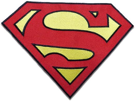 Parches - XL Superman Logo - rojo - 14,5 x 19,8 cm ...