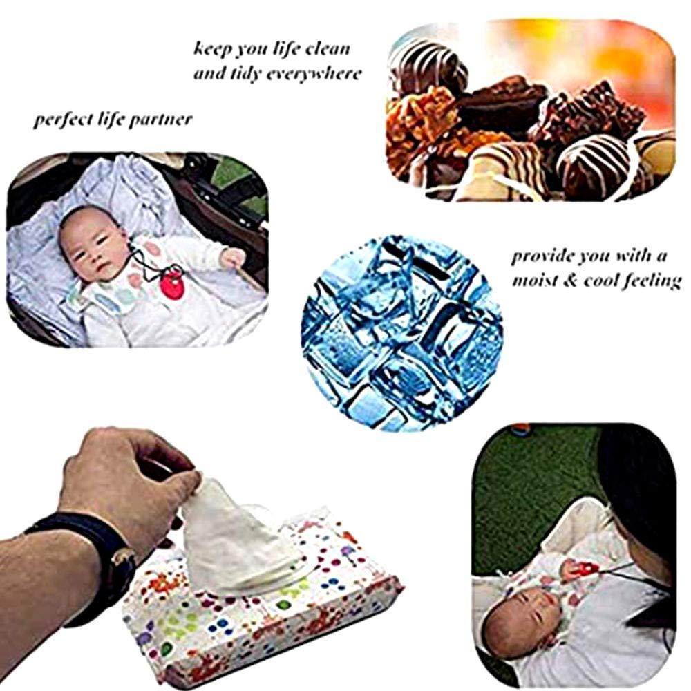 8 Pack Wiederverwendbar Baby Wet Wipe Tasche,Babyt/ücher Feuchtt/ücher Spender,Reisebeh/älter f/ür Feuchtt/ücher