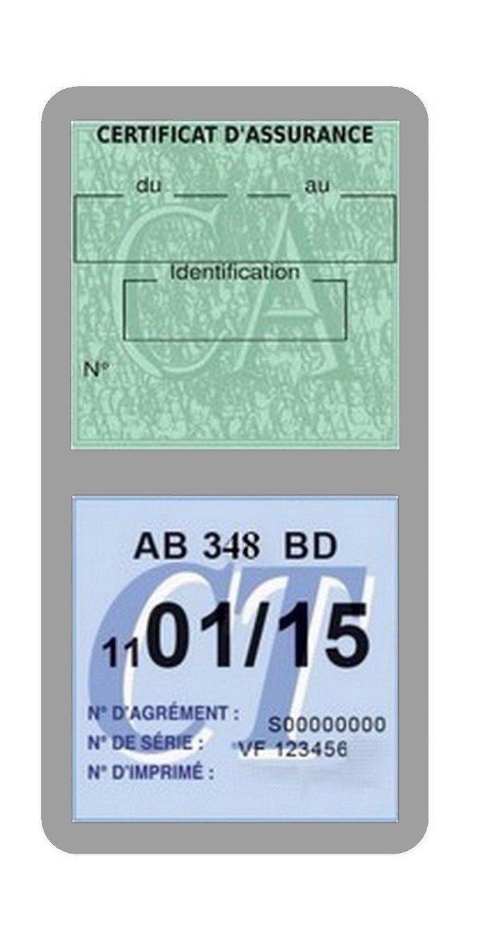 Rose G/én/érique Porte /étui Double Vignette Assurance Voiture Neutre sans marquage Stickers Auto R/étro