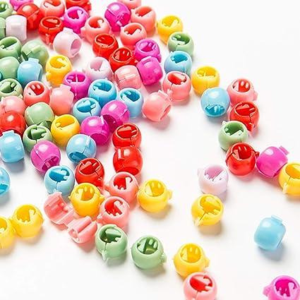 100 PCS Mini Hair Claw Clips For Women Girls Cute Candy Colors Beads HeadweHK G^