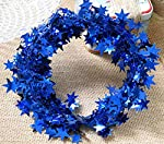 Yesier 25 FT Star Tinsel Garlands with Wire Christmas Tree Party Decoration Festive Ornament, 2 Pack