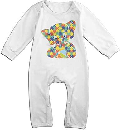 Mri-le1 Baby Girls Jumpsuit Elephant Baby Clothes