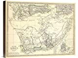 Global Gallery GCS-295311-22-144 ''Historical Map Society for the Diffusion of Useful Knowledge South Africa'' Gicee On Wall Art Print