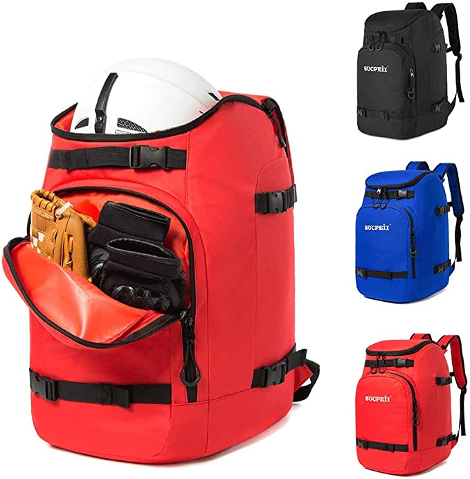 Snowboard and Other Accessories 50L Large Capacity can Accommodate Ski Helmet Goggles Gloves Qiaoqii Ski Boot Bag Ski and Ski Boot Travel Backpack