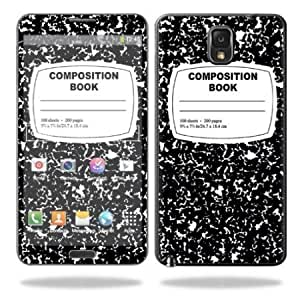 Protective Vinyl Skin Decal Cover for Samsung Galaxy Note 3 III N9000 Sticker Skins Compositon Book