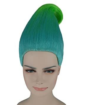 Blue/Green Trolls Wig Creek Trolls Movie Style ...