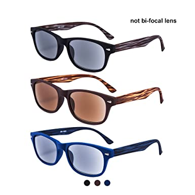 c21f90d433 EYEGUARD Unisex Classic Style Sunglasses Sun Readers Gradient Lens UV400  Protection Outdoor Reading Glasses Men Women
