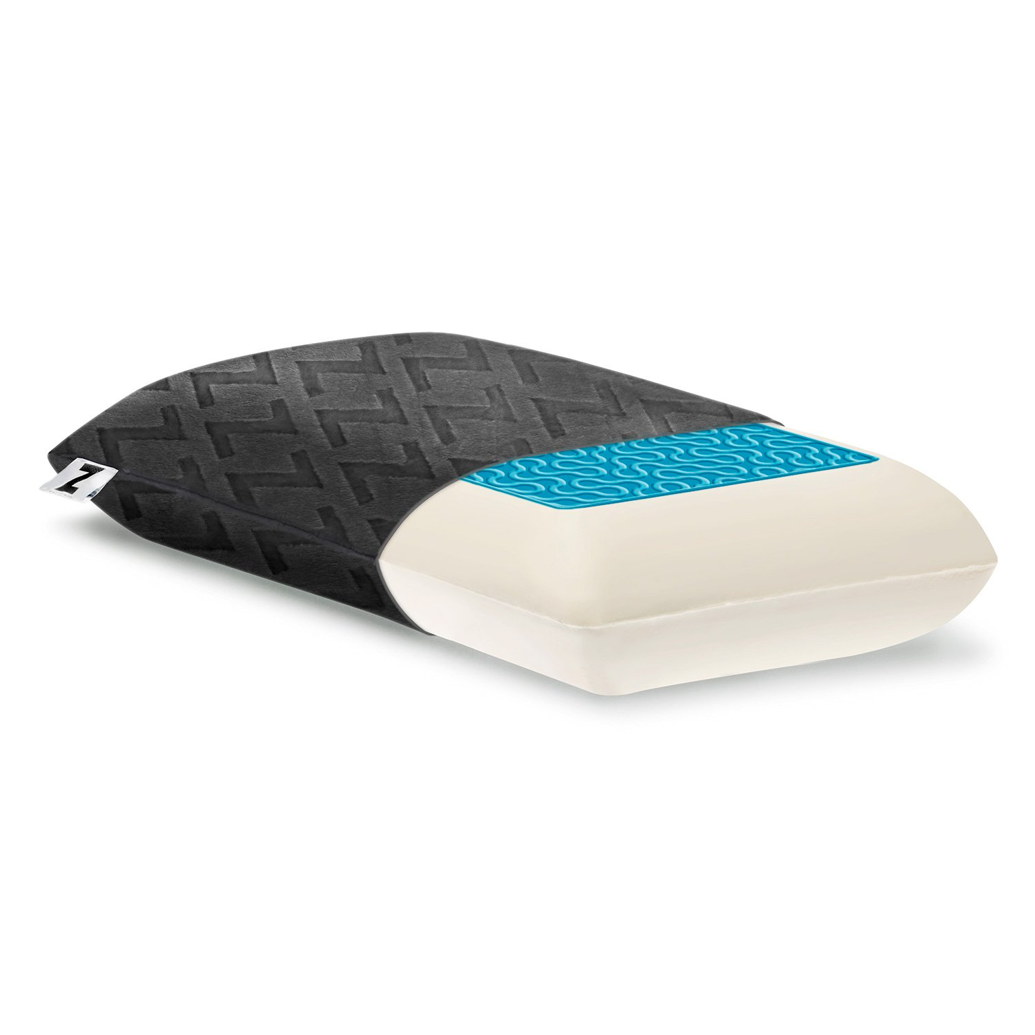 MALOUF Z by Travel DOUGH Memory Foam + Z Gel Pillow Removable Rayon from Bamboo Velour Cover 5-Year Warranty
