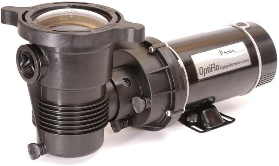 Pentair 347983 OptiFlo Horizontal Discharge Aboveground Pool Pump with Cord and Standard Plug, 1-1/2 HP