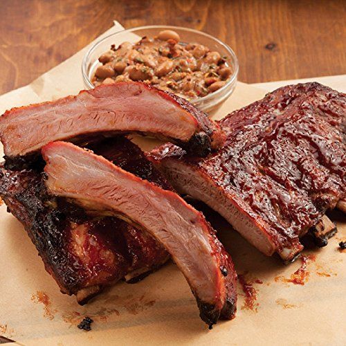 Gourmet Foods, Baby Back Barbecued Ribs, 4 HALF SLABS (4 1/2 - 5 1/2 LBS) by Unknown