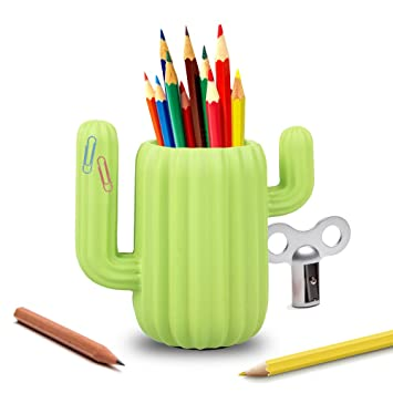 luckstar pen holder cactus pen container desk supplies organizer pen holder desktop organiser pencil pot