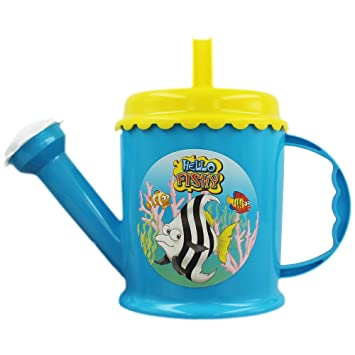 High Quality Hello Fishy Children Kids Toy Plastic Watering Can in Blue