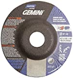 Norton Gemini Depressed Center Abrasive Wheel, Type 27, Aluminium Oxide, 7/8'' Arbor, 4-1/2'' Diameter x 1/8'' Thickness  (Pack of 25)