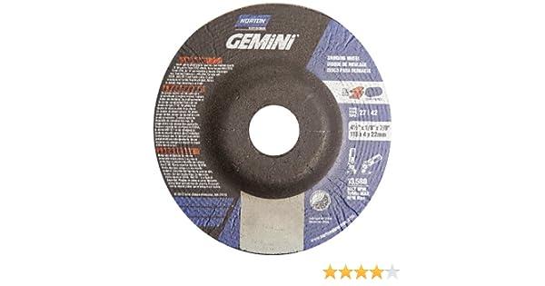 Norton Gemini Depressed Center Abrasive Wheel, Type 27, Aluminium Oxide, 7/8