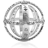 天体ボールリング 宇宙指輪 天文学 高級感 創意 折りたたみ式 ペンダント フリップ変形宇宙リング 恋人ジュエリーギフト カップルクリエイティブリング 誕生日プレゼント
