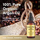 PURA DOR Organic Moroccan Argan Oil 100% Pure Cold Pressed & USDA Organic Anti-Aging For Face, Hair, Skin & Nails, 4 Fluid Ounce ( packaging may vary )