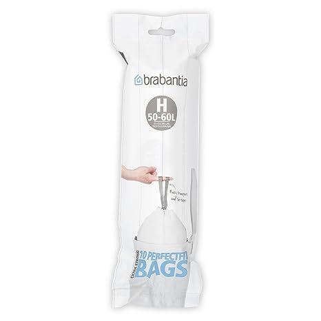 Brabantia H Bolsa de Basura, 50 litros, código H, Plã¡Stico, Blanco, 50-60 L