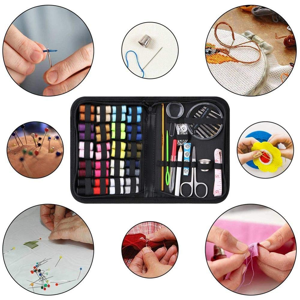 Thread Carrying Case and Accessories etc Daltoo Sewing Kit DIY Premium Repair Sewing Set with Scissors Thimble 128 PICS Quality Sewing Supplies Tape Measure Needles for Beginners and Adults