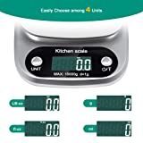 Digital Kitchen Scale, Pekyok FT04 Stainless Steel