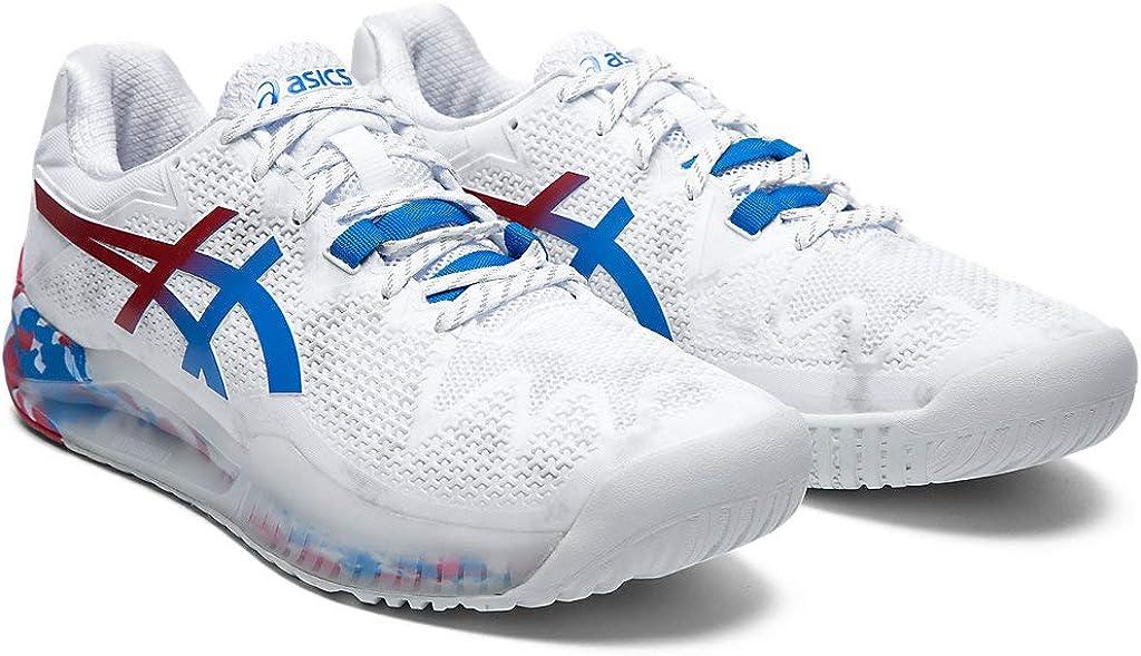 Asics Gel-resolution 8 - Scarpe Da Tennis Donna Bianco Blu Elettrico