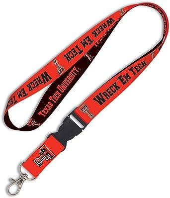 Wincraft Ncaa Texas Tech University Schlüsselband Mit Abnehmbarer Schnalle 1 9 Cm Bekleidung