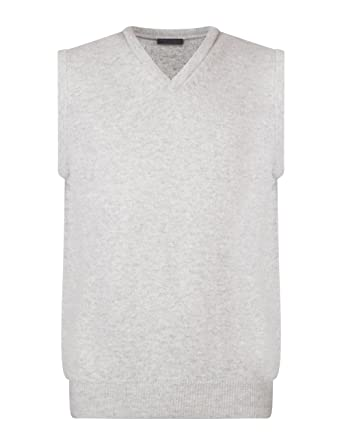 9077e569cc5a Great & British Knitwear Men's HK600 100% Lambswool Plain V-Neck Sweater  Vest at Amazon Men's Clothing store: