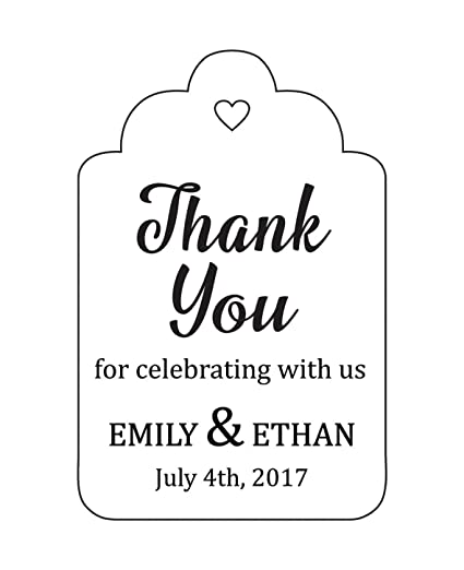 c65178d662f2 100 PCS Personalized Paper Tags Thank You For Celebrating Custom Wedding  Favor Hang Tags