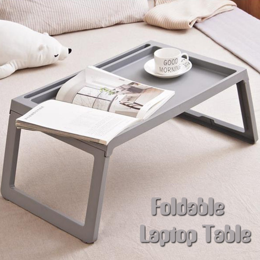 Foldable Bed Table for Laptop Plastic Folding Dining Picnic Desk Bed Tray Large Gaming Coffee Table Book for Kids Girls Women Men