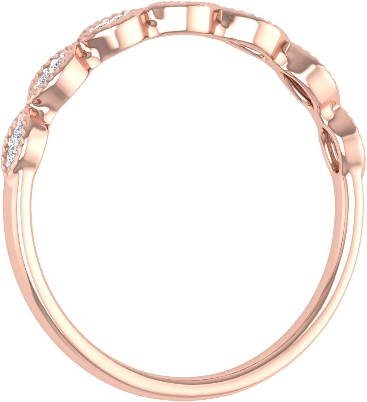 0.04 Carat Anniversary Wedding Band Ring in 10K Solid Gold