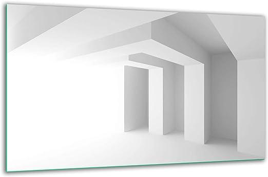 Ceranfeldabdeckung 90x52 Abstrakt Weiß Herdabdeckplatten Spritzschutz Glasplatte