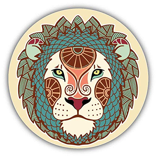 JJH Inc Leo Zodiac Sign Ornament Vinyl Decal Sticker Waterproof Car Decal Bumper Sticker 5