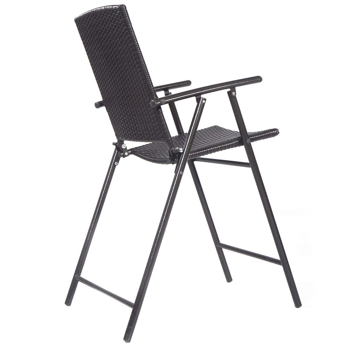 Amazon.com: 4 sillas plegables de mimbre de ratán para ...