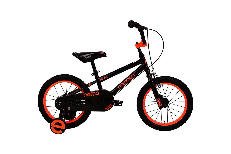 HITS(ヒッツ) Nemo 子供用 自転車 フロントキャリパーブレーキ リア バンドブレーキ 児童用 バイク ハンドブレーキモデル 14インチ 16インチ 男の子にも女の子にもぴったり 3歳 4歳 5歳 6歳 7歳 8歳 9歳 B07DQH5JWK 14インチ|ブラック ブラック 14インチ