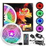 LED Strip Lights, AmmToo 20ft RGB 5050 LED Strips with Music and Remote Controller,12V Power Supply Color Changing Tape Light for Room, Bedroom, TV, Kitchen, Desk (6)