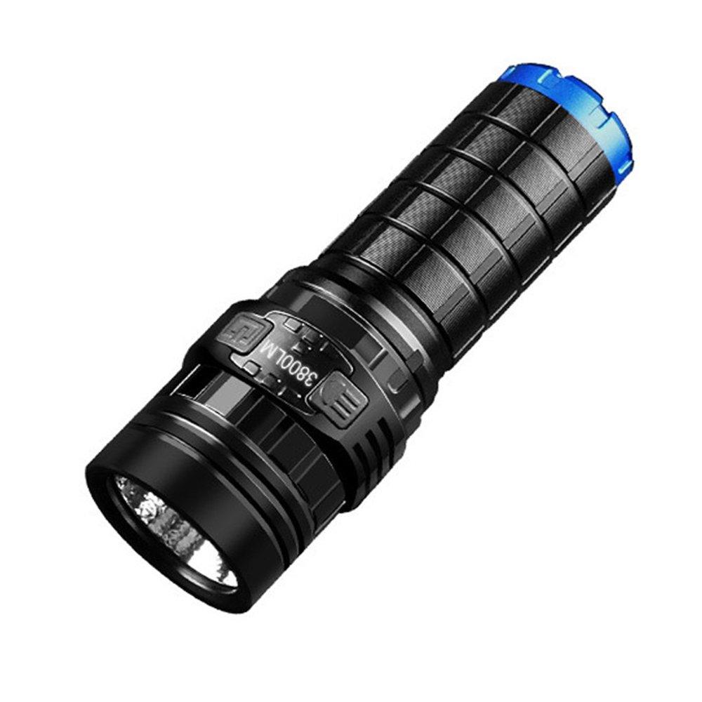LED Taktische Taschenlampe, Ulanda IMALENT DN70 XHP70 Super hell 3800LM LED Fackel Licht, LED Military Taschenlampe 7 Licht-Modi mit 26650 Batterie, USB-Kabel Ulanda-EU