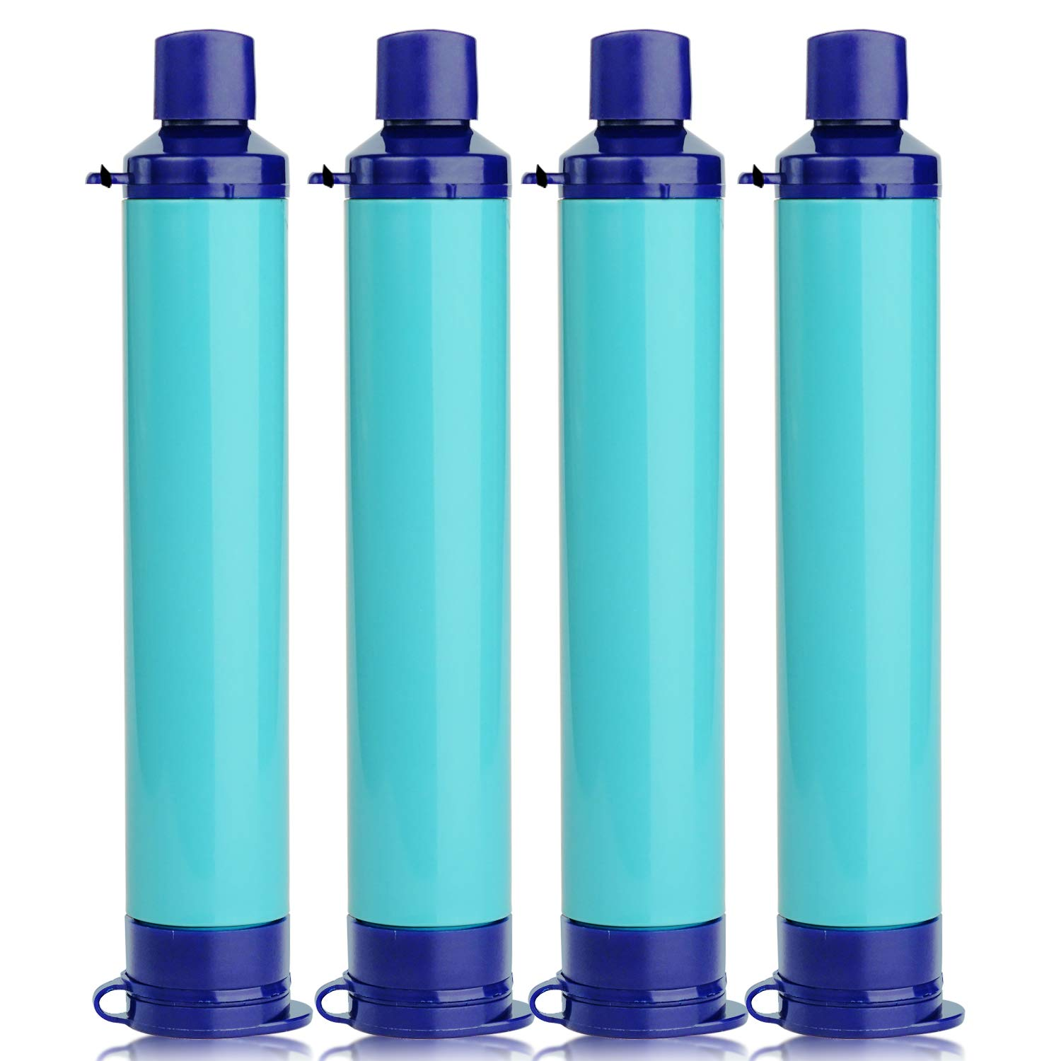 Membrane Solutions Straw Water Filter Survival Filtration Portable Gear Emergency Preparedness Supply for Drinking Hiking Camping Travel Hunting Fishing Team Family Outing