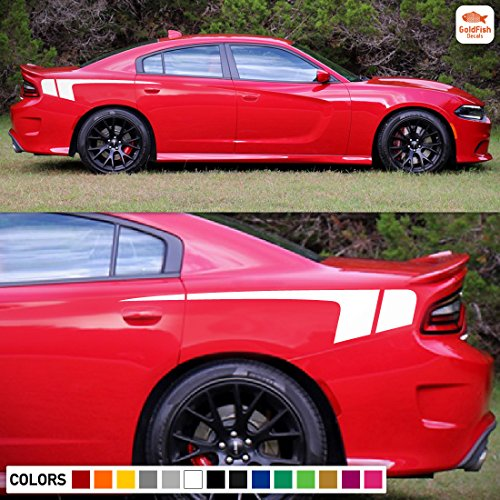 Side Sport Rear Panel Decal Sticker Graphic Compatible with Dodge Charger SRT R/T (Dodge Charger Quarter Panel)