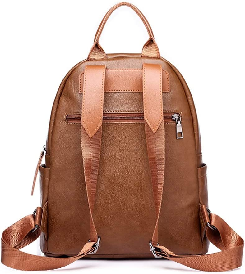 Travel Work School Fashion and Leisure Black//Brown Outdoor Haoyushangmao The Girls Versatile Backpack is Perfect for Everyday Travel Color : Brown, Size : 27cm32cm12cm Simple and Practical.