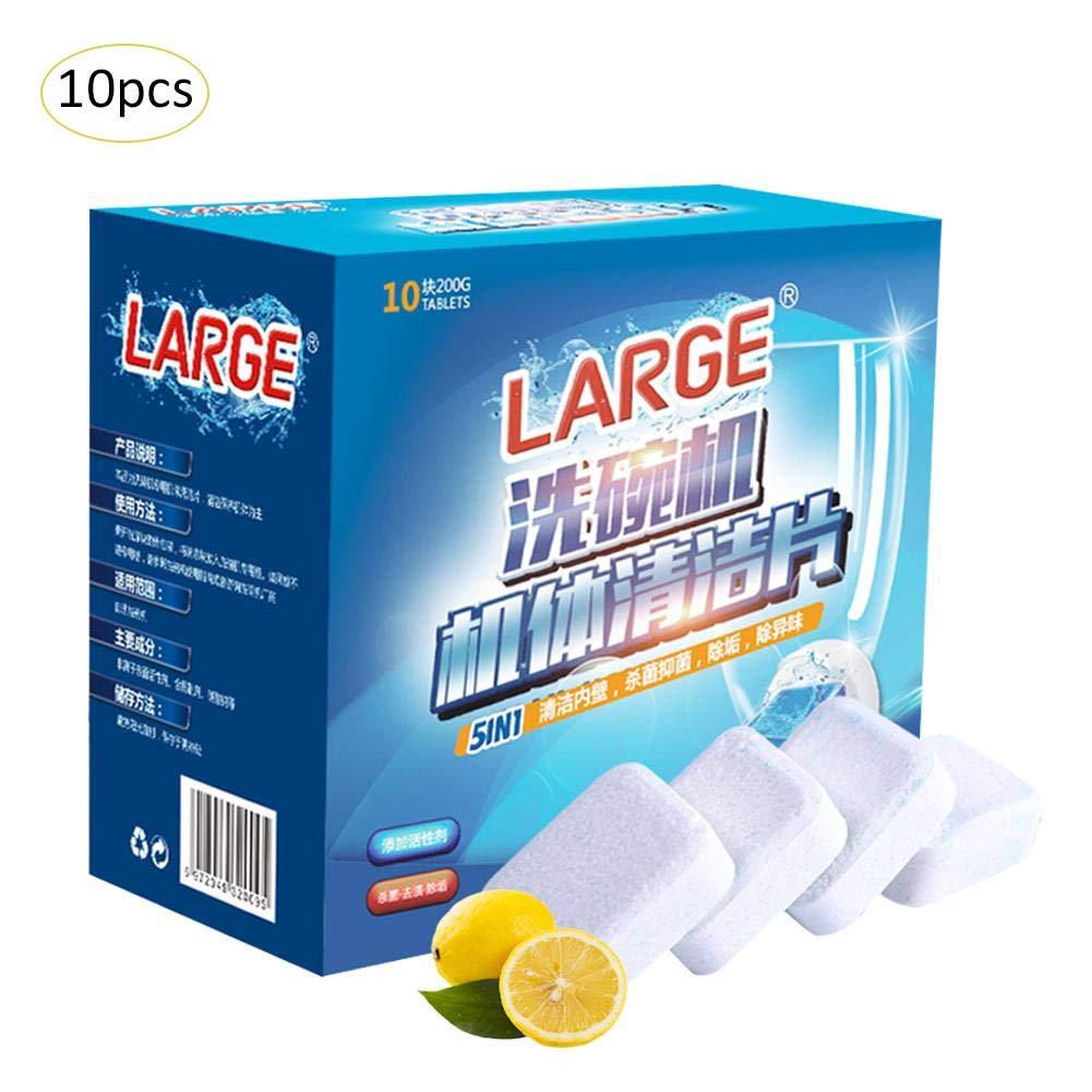 Yunhigh 10pcs Pastillas Lavavajillas Limón, detergente para ...
