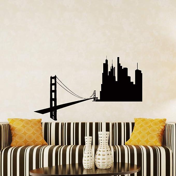 SAN FRANCISCO City Manhattan Skyline Mural Sticker Autocollant f1365