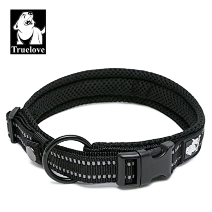 TRUE LOVE Dog Collar Reflective Premium Duraflex Buckle,High Grade Nylon Webbing No Choke Basic