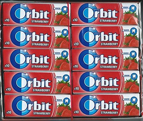 (Pack of 30) Wrigley's Orbit Strawberry Chewing Gum Full Box 30x10 Pcs - 300 Pcs Dragees