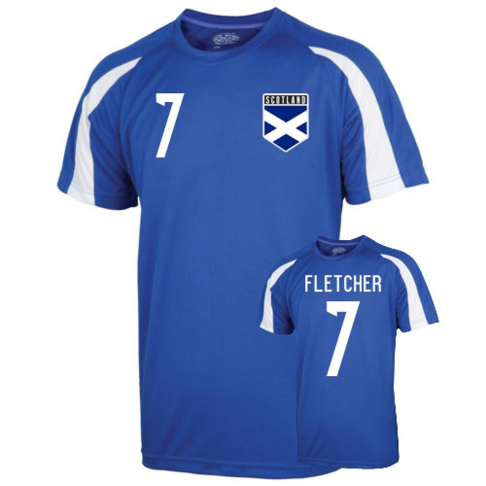 Scotland Sports Training Jersey (fletcher 7) B01LACOIWCBlue Large (42-44\